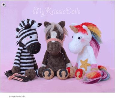 Zebra horse unicorn